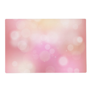 Girly Pink Bokeh Pattern Placemat