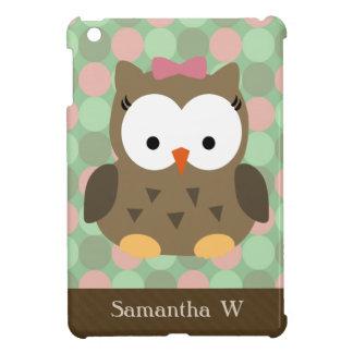 Girly Pink Bow Owl iPad Mini Covers