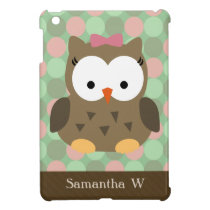 Girly Pink Bow Owl iPad Mini Case