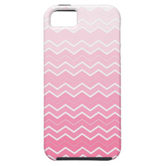 Girly Pink Bubble gum Ombre Chevron Pattern iPhone SE/5/5s Case