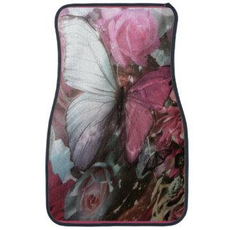 Girly Pink burtterfly Set of Car Mats Floor Mat