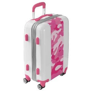 Girly PInk Camo | Pink Camouflage Luggage