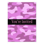 Girly Pink Camouflage 5x7 Paper Invitation Card