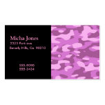 Girly Pink Camouflage Double-Sided Standard Business Cards (Pack Of 100)