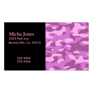Girly Pink Camouflage Business Cards