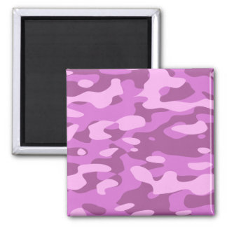 Girly Pink Camouflage Magnet
