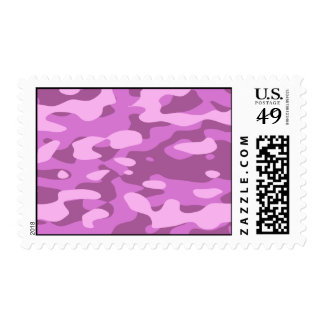 Girly Pink Camouflage Postage