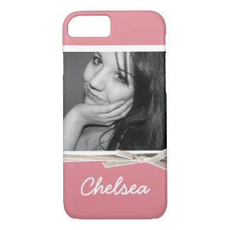 Girly Pink Case with XL Photo and Name