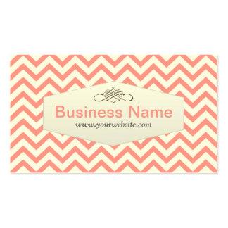 Girly Pink Chevron Pet Nanny Business Card