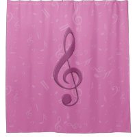 Girly Pink Clef and Musical Notes