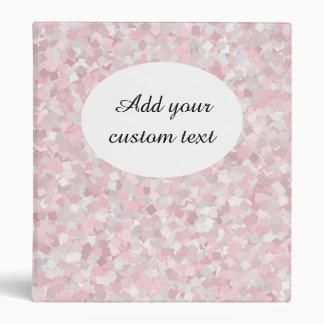 Girly pink confetti design binder