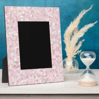 Girly pink confetti design plaque