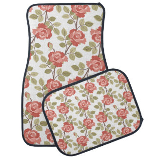 Girly Pink Cottage Roses Car Mat