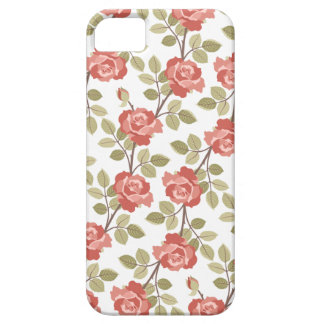 Girly Pink Cottage Roses iPhone SE/5/5s Case