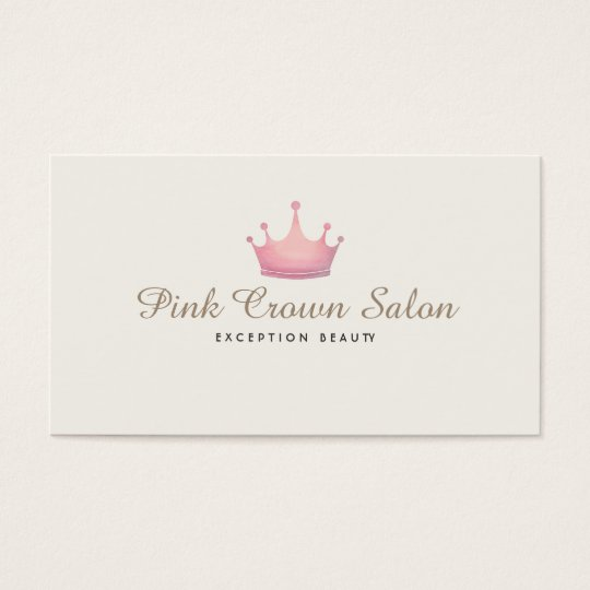 Girly pink crown logo makeup artist beauty salon business card girly pink crown logo makeup artist beauty salon business card reheart Image collections