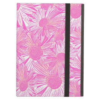 Girly pink daisies iPad air cover
