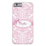 Girly Pink Damask iPhone 6 case