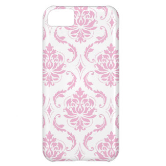 Girly Pink Damask Pattern iPhone 5C Cover