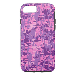 Girly Pink Digital Camo Pattern iPhone 8/7 Case
