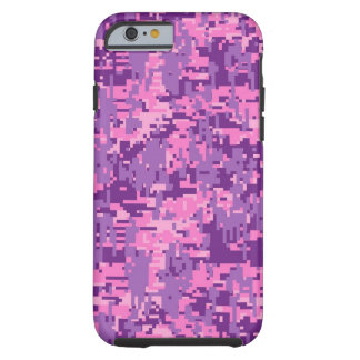 Girly Pink Digital Camo Pattern Tough iPhone 6 Case