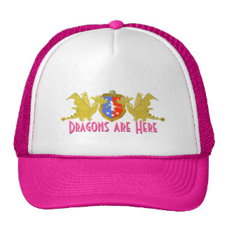 Girly Pink Dragons Are Here Cute Cartoon Dragons Trucker Hat