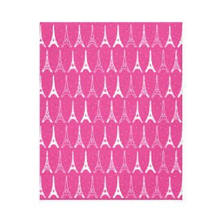 Girly Pink Eiffel Towers Canvas Print