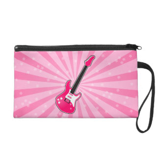 Girly Pink Electric Guitar Wristlet Purses