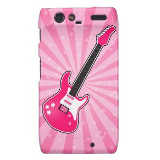 Girly Pink Electric Guitar Motorola Droid RAZR Cover