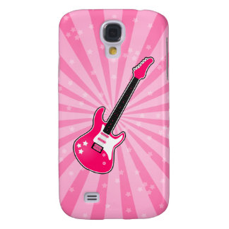 Girly Pink Electric Guitar Samsung Galaxy S4 Cover