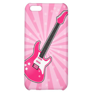 Girly Pink Electric Guitar iPhone 5C Cover