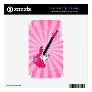 Girly Pink Electric Guitar Decals For iPod Touch 4G