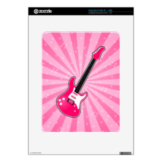 Girly Pink Electric Guitar Skins For iPad