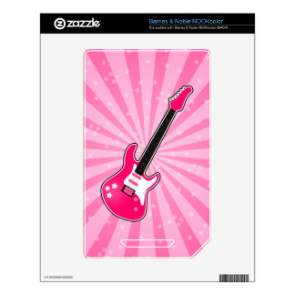 Girly Pink Electric Guitar Skin For NOOK Color