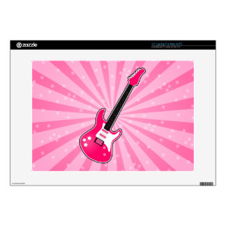 Girly Pink Electric Guitar Decals For Laptops