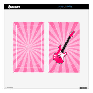 Girly Pink Electric Guitar Kindle Fire Skin