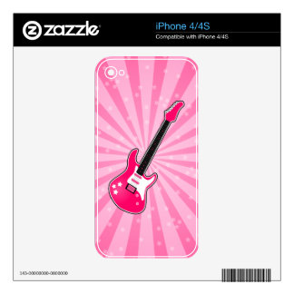 Girly Pink Electric Guitar iPhone 4S Skin