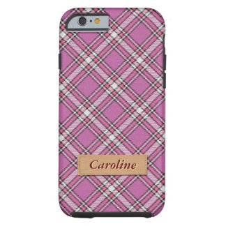 Girly Pink Fabric Plaid Tartan Pattern Tough iPhone 6 Case