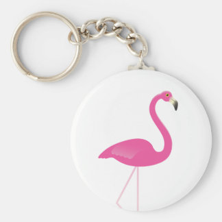 Girly Pink Flamingo Keychain