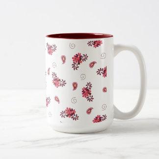 Girly Pink Floral Mug