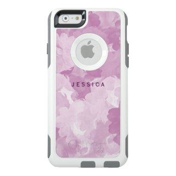 Girly Pink Floral Roses Otterbox Personalized Otterbox Iphone 6/6s Case by mothersdaisy at Zazzle