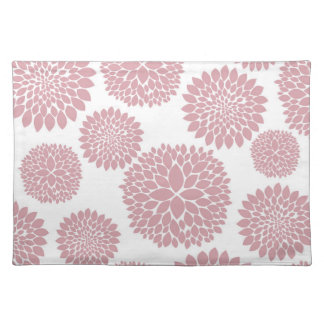 Girly Pink Flowers Placemat
