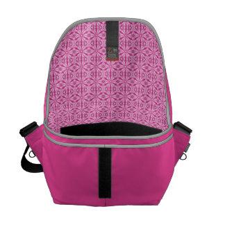 Girly Pink Fractal Pattern Courier Bag