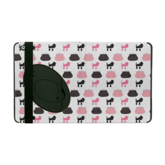 Girly Pink French Poodle iPad Cases