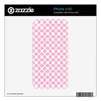 Girly Pink Geometric Pattern Pt1 iPhone 4 Decals