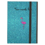 Girly Pink glitter flamingo turquoise glitter iPad Covers