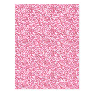 Girly Pink Glitter Printed Postcard