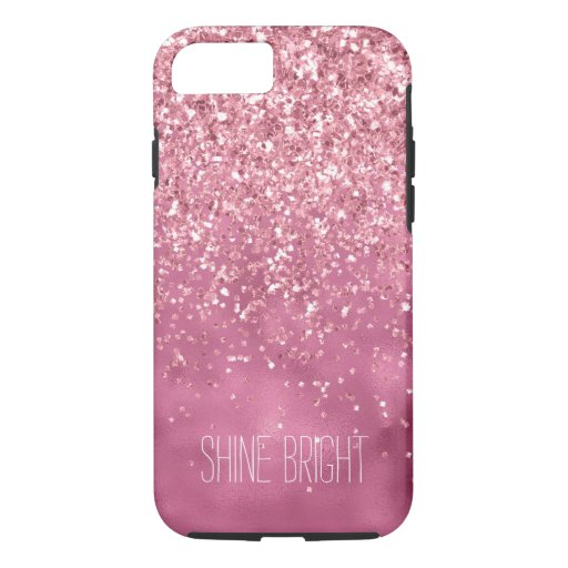 Girly Pink Glitzy Sparkle Glitter iPhone 8/7 Case