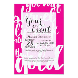 Girly Pink Gold Digger Typography Card