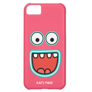 Girly Pink Googly Eye Funnyface iPhone 5C Covers