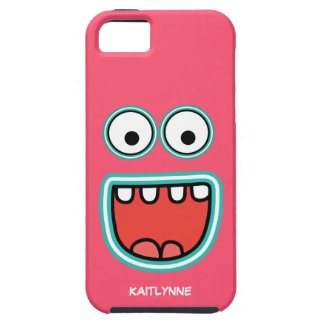 Girly Pink Googly Eye Funnyface iPhone 5 Covers